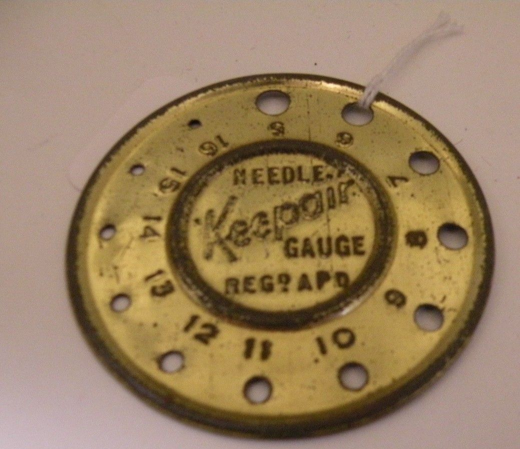 Keepair knitting needle gauge this gauge has its golden finish well this gauge has its golden finish well intact sizes english gauge comes with a very handy conversion chart so you can compare metric and us sizes geenschuldenfo Choice Image