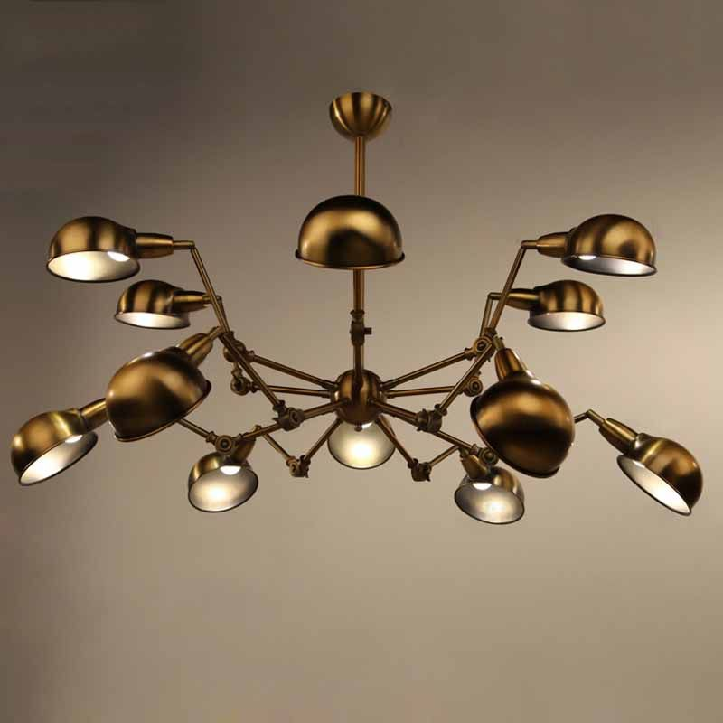 Spider chandelier lights largen retro industrial bronze color modern spider chandelier lights largen retro industrial bronze color modern pendant lamp fixture hall bar dining room mozeypictures Image collections