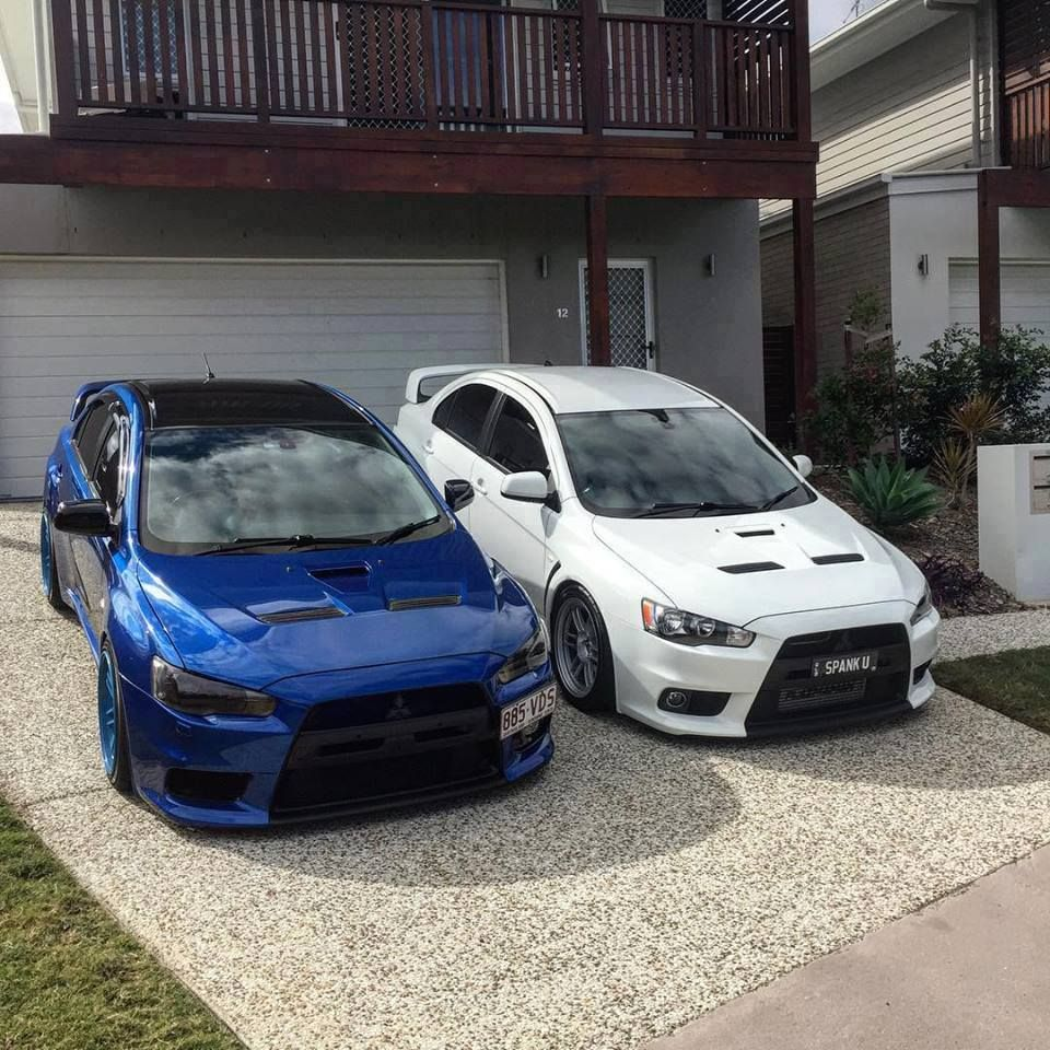 Amazing Mitsubishi Lancer Sport Car Wallpaper Hd Picture: Blue Or White? #Evo #nissan #evo #evox #skyline #gtr #jdm