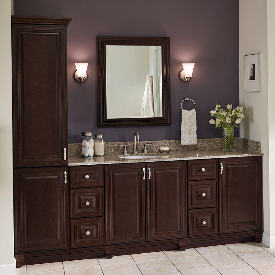 Villa Bath By Rsi Monroe 12 In W X 33 5 In H X 21 5 In D 3 Drawer Freestanding Cabinet Banks Lowes Com Bathroom Cabinets Diy Bathroom Storage Trendy Bathroom