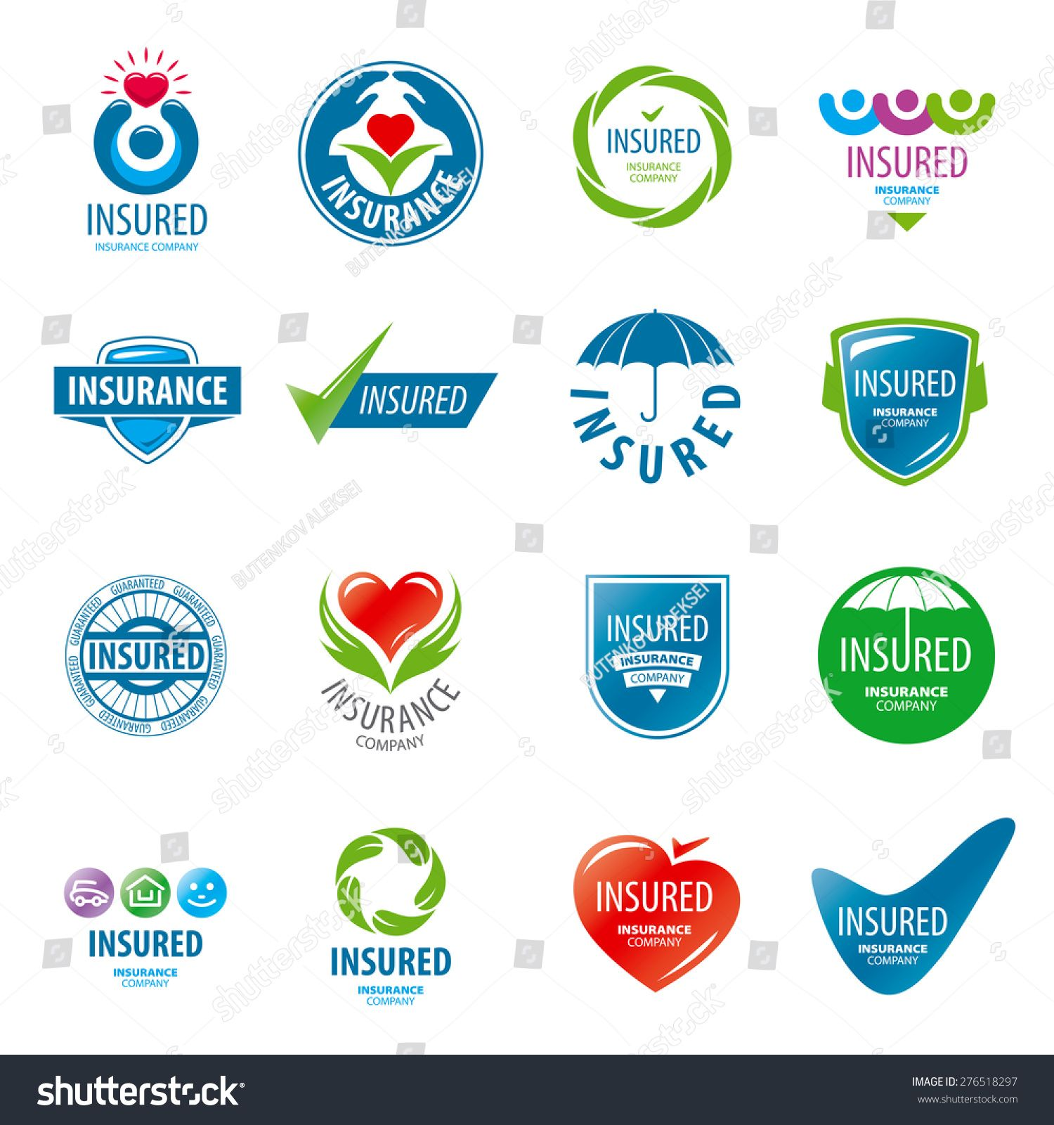 Large Set Of Vector Logos Insurance