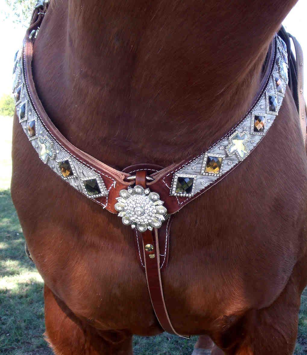 collars bling bling breast