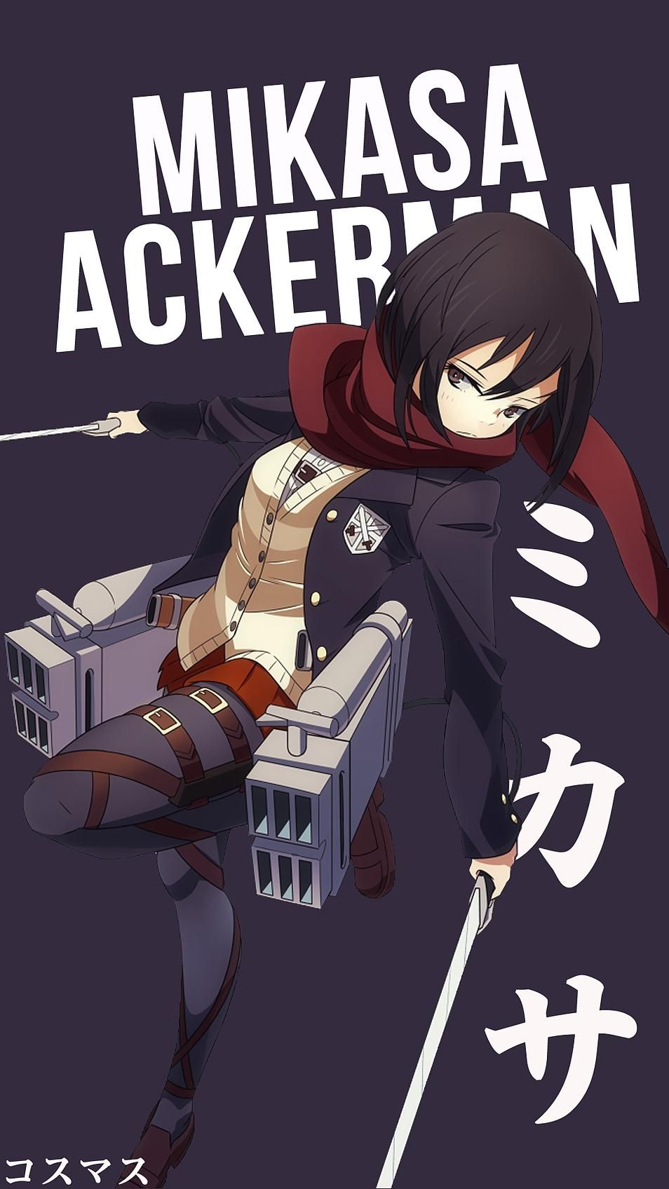 Mikasa Ackerman Anime Character Names Attack On Titan Anime