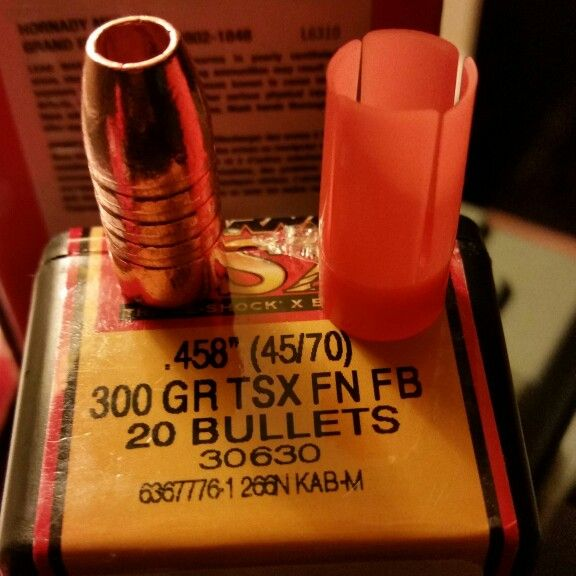Barnes TSX Hollow point 300 grain bullets and MMP Orange
