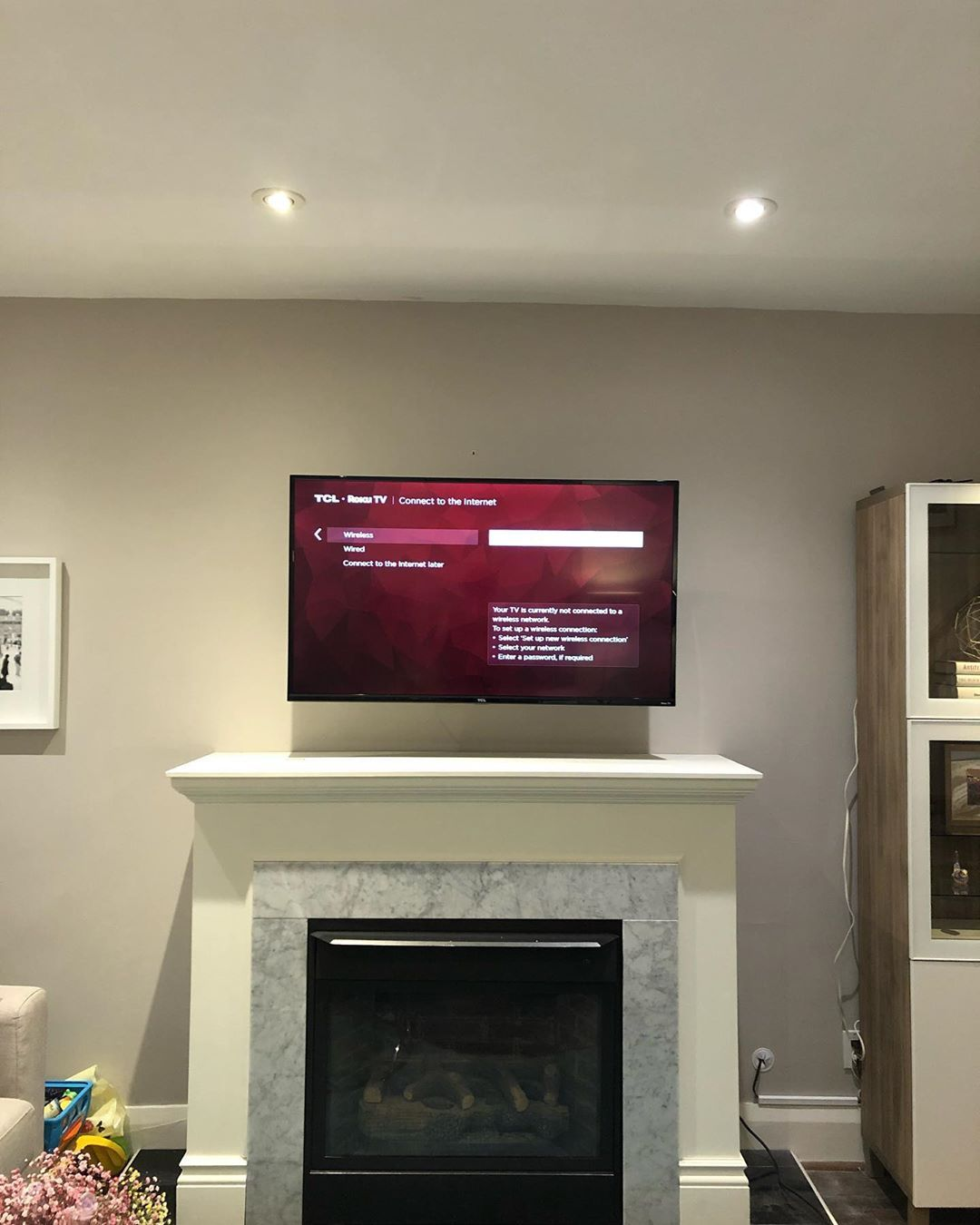 Tv Installed Above Fireplace Using Articulating And Concealed Mount Tvinstallation Smarthome Boardroom Fireplace Tv Tv Installation Fireplace Tv Wall Mount