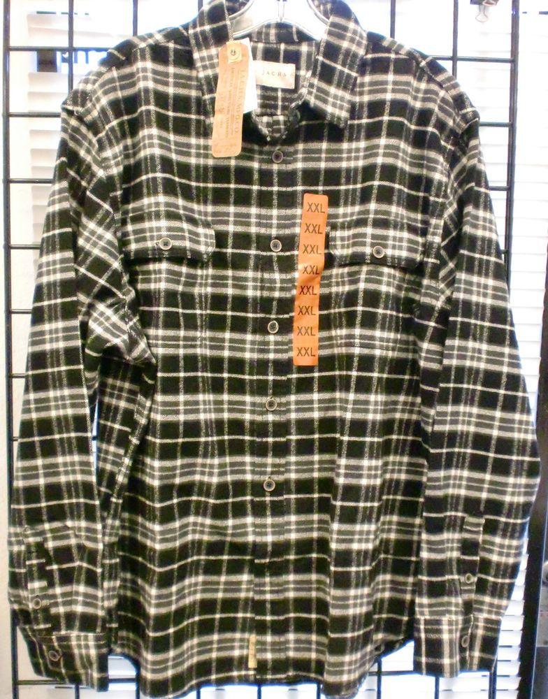 Jachs Men/'s Brawny Flannel Work Shirt Cotton Button-Down VARIETY Size/&Color