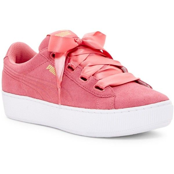 584ddd6da7c5 PUMA Vikky Ribbon Platform Sneaker ( 60) ❤ liked on Polyvore featuring  shoes
