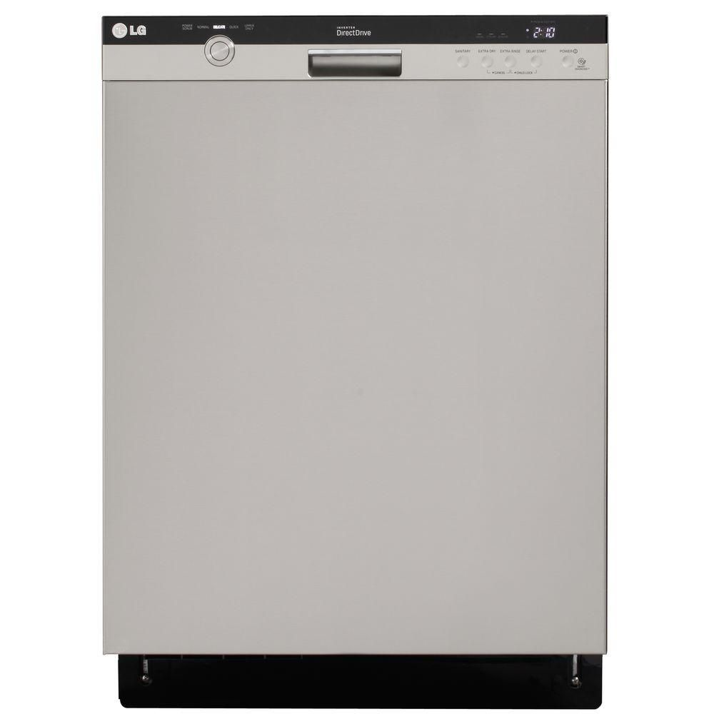 LG Electronics Front Control Dishwasher in Stainless Steel with ...