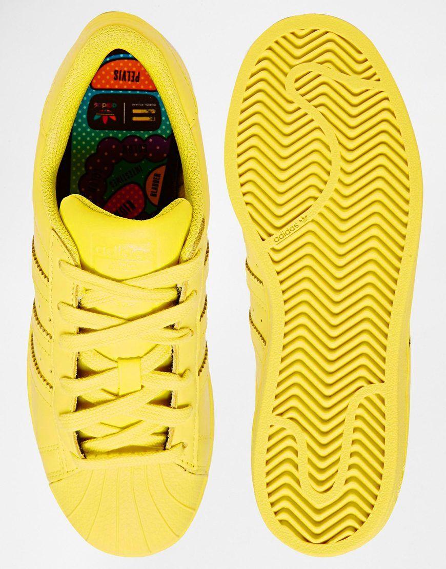 130fcb1eb3f Image 3 of Adidas Originals Pharrell Williams Supercolor Bright Yellow  Trainers