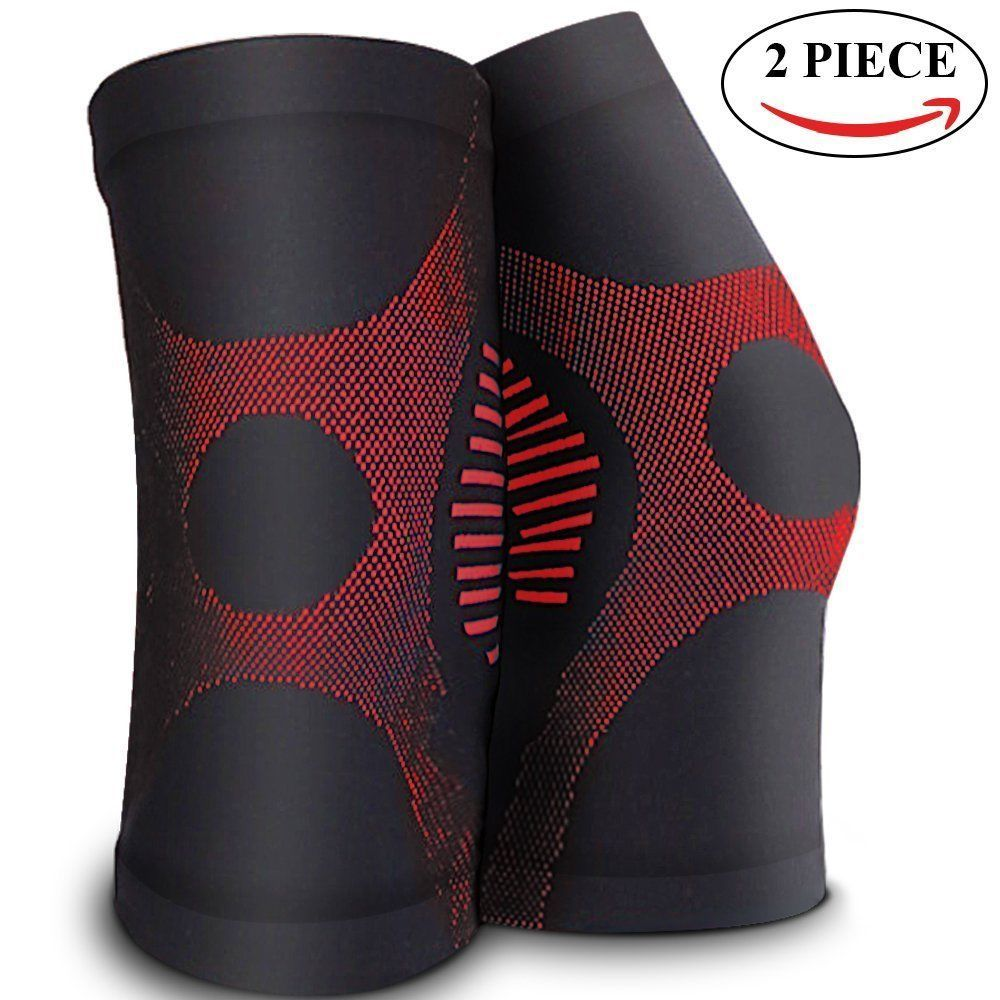 Athletic knee brace support compression sleeves arthritis