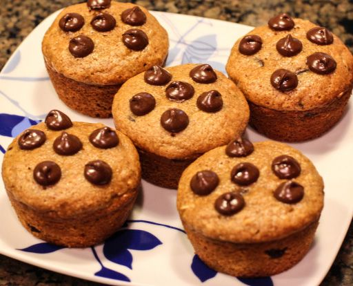 Chocolate Chip Pumpkin Protein Muffins- healthy eats and treats