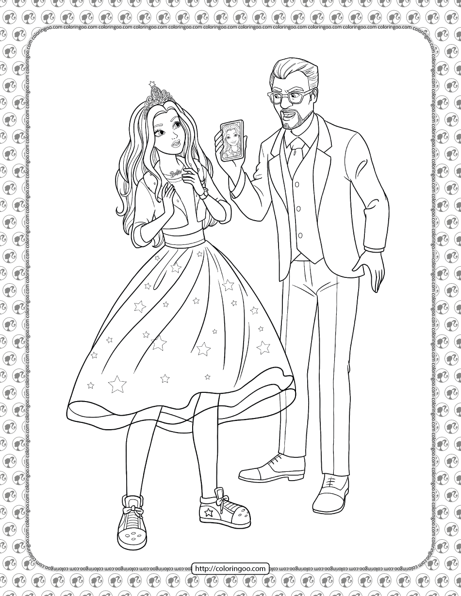 Barbie Princess Adventure Coloring Pages 16 In 2021 Princess Adventure Barbie Princess Coloring Pages