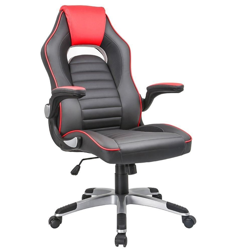 Gaming Chair Computer Executive Chair Foldable Arms High Back Swivel Pc Desk Computer Reclining Chair Ergonomic Design Gam Executive Chair Chair Gaming Chair