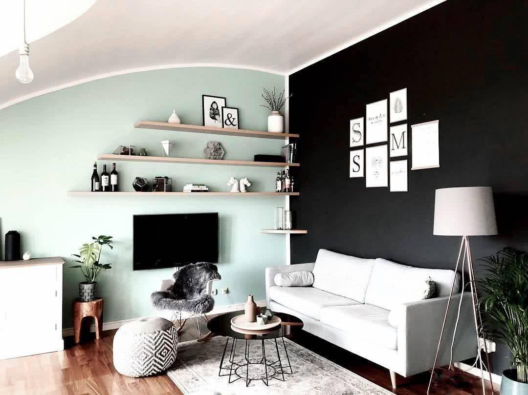 Dunkle Wandfarbe Gestalten So Lässt Du Dein Zimmer Heller Wirken Dunkle Wandfarbe Wände Streichen Wohnzimmer Inspiration