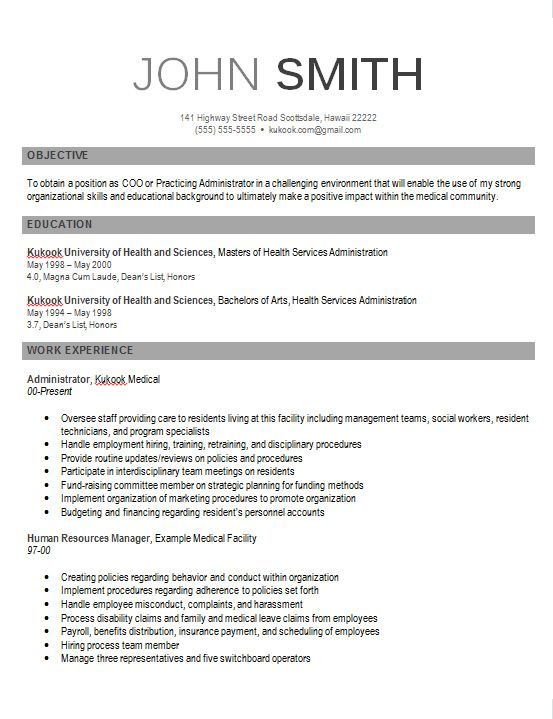 Contemporary Resume Templates 2015 -    wwwjobresumewebsite - human resources resume samples