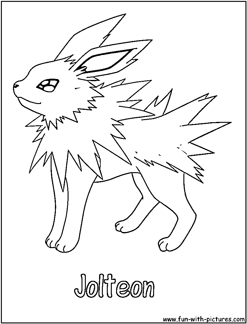 Image result for jolteon coloring pages | Rylie's Pokemon Cake ...