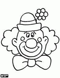 Eenvoudige Kleurplaten Carnaval.Clown Kleurplaat Clown Gezichten Knutselen Clown En Carnaval