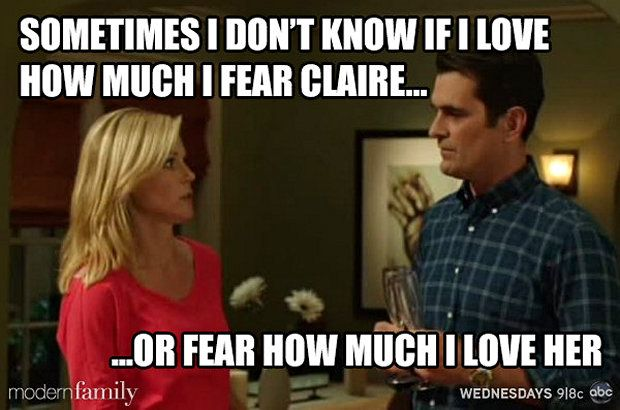 Claire And Phil Modern Family Quotes Modern Family Memes Modern Family Funny