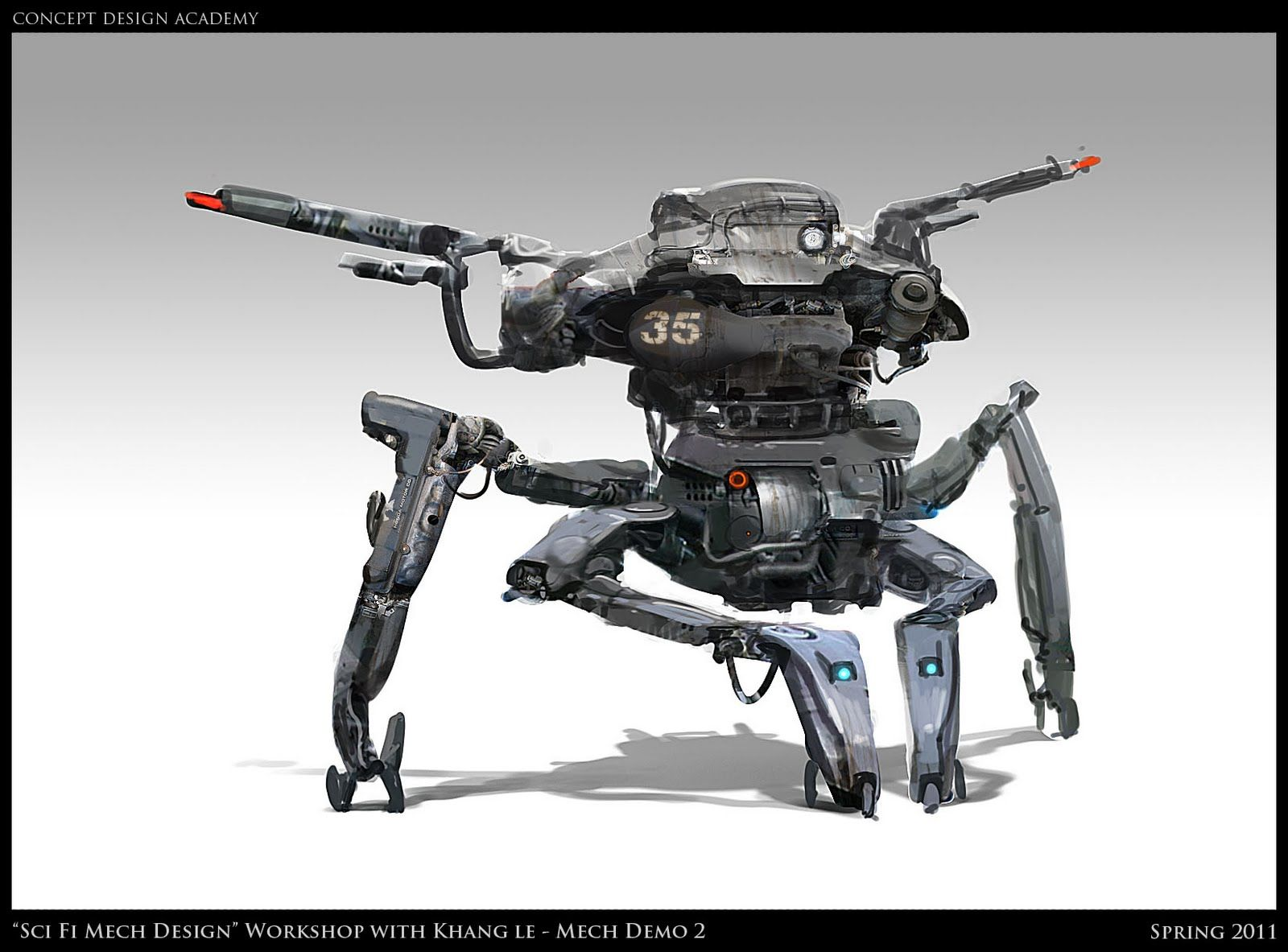 Concept Design Academy: Photos and Demo Images from Sci Fi Mech Design Workshop