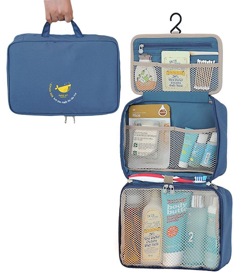 Amazon.com: FunnyMade Folding Toiletry Bag, Bathroom Travel Makeup ...