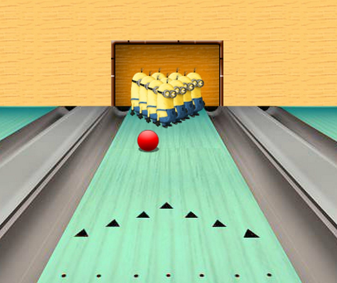 Have some fun playing a set of Minions bowling game. Try