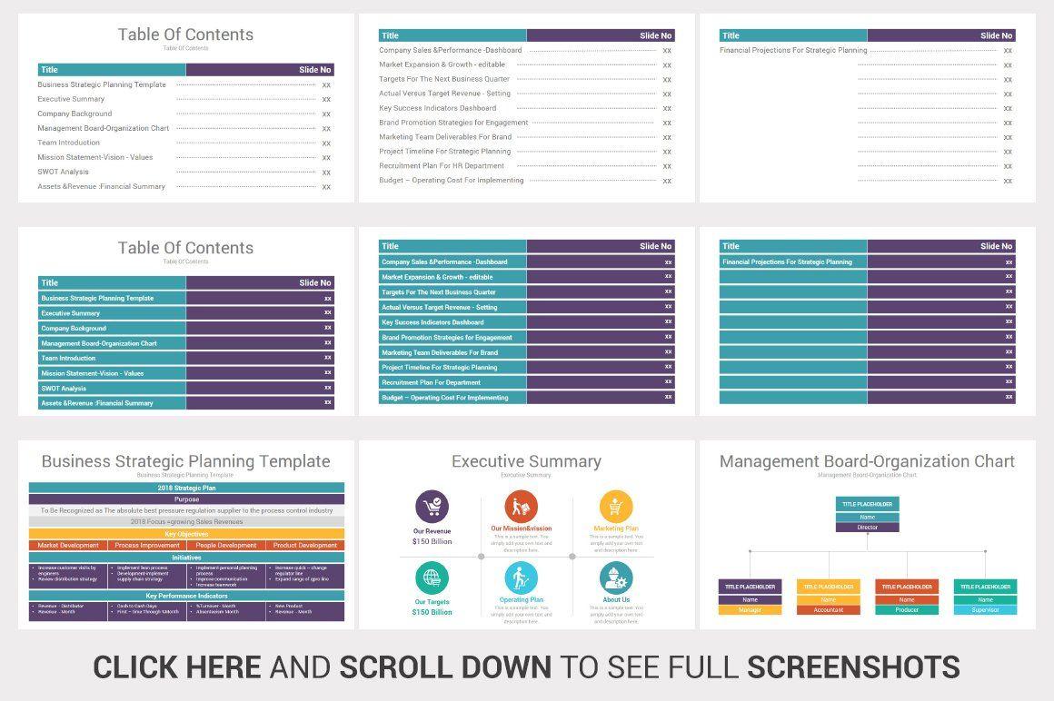Infographics Google Slides Strategic Planning Template Chart