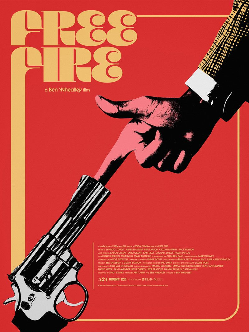 Us One Sheet For Free Fire Ben Wheatley Uk 2016 Designer Jay