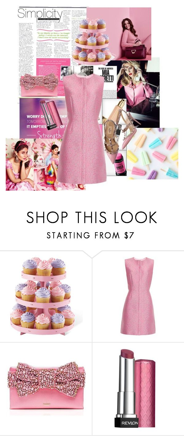 """""""Untitled #272"""" by prettybrenda ❤ liked on Polyvore featuring косметика, Coccinelle, Balenciaga, Kate Spade, Valentino и Revlon"""