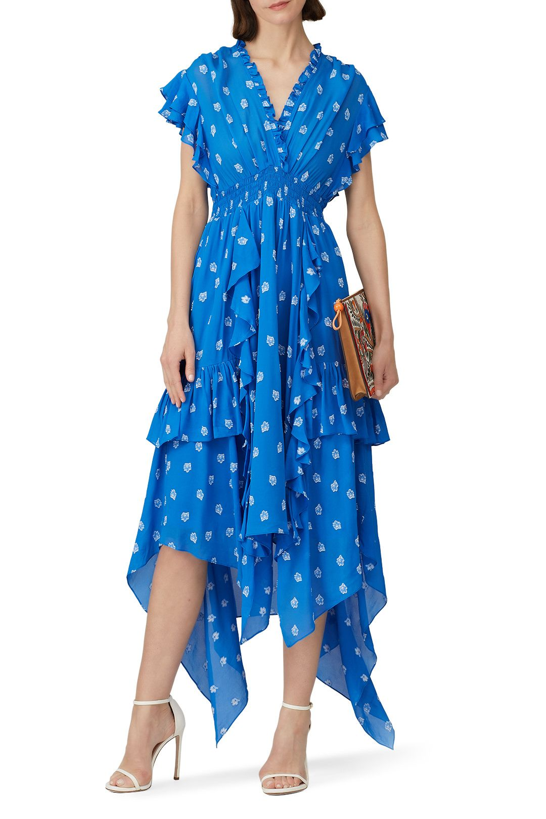 Rent Yasmine Tiered Floral Dress By Shoshanna For 60 Only At Rent The Runway Floral Dress Dresses Summer Day Dresses [ 1620 x 1080 Pixel ]