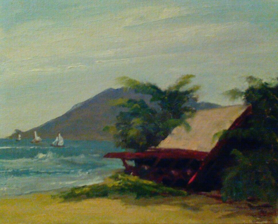 Sketch by  C Elmo  Gillett , Maalaia Bay Maui