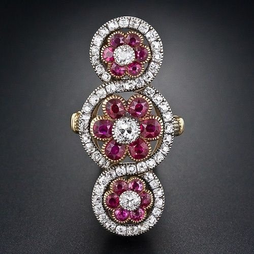 French Victorian Ruby Ring