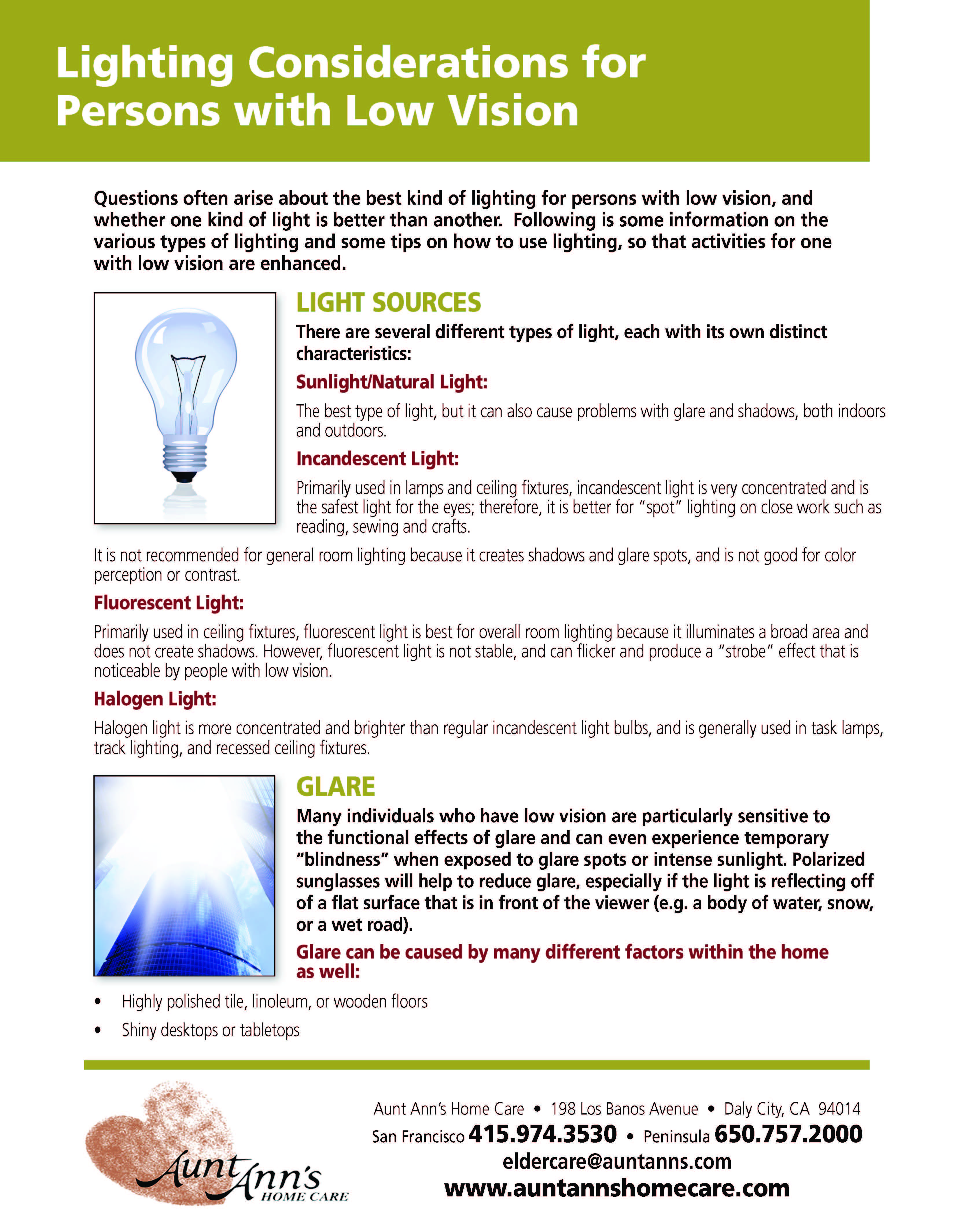 28d6e684e743 Lighting Considerations for Persons with Low Vision Eyes Problems