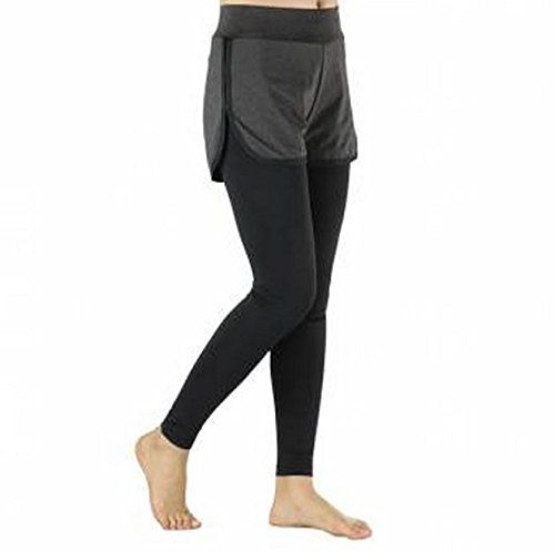 SizeM ARSUXEO Women Fake Two Running Pants Compression Tights Shorts Exerise Yoga Elastic Pants Legging by GokuStore * To view further for this item, visit the affiliate link Amazon.com.