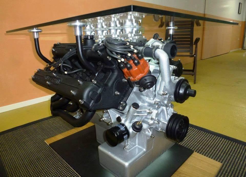 Maseratis 49liter V8 engine coffee table shop Pinterest