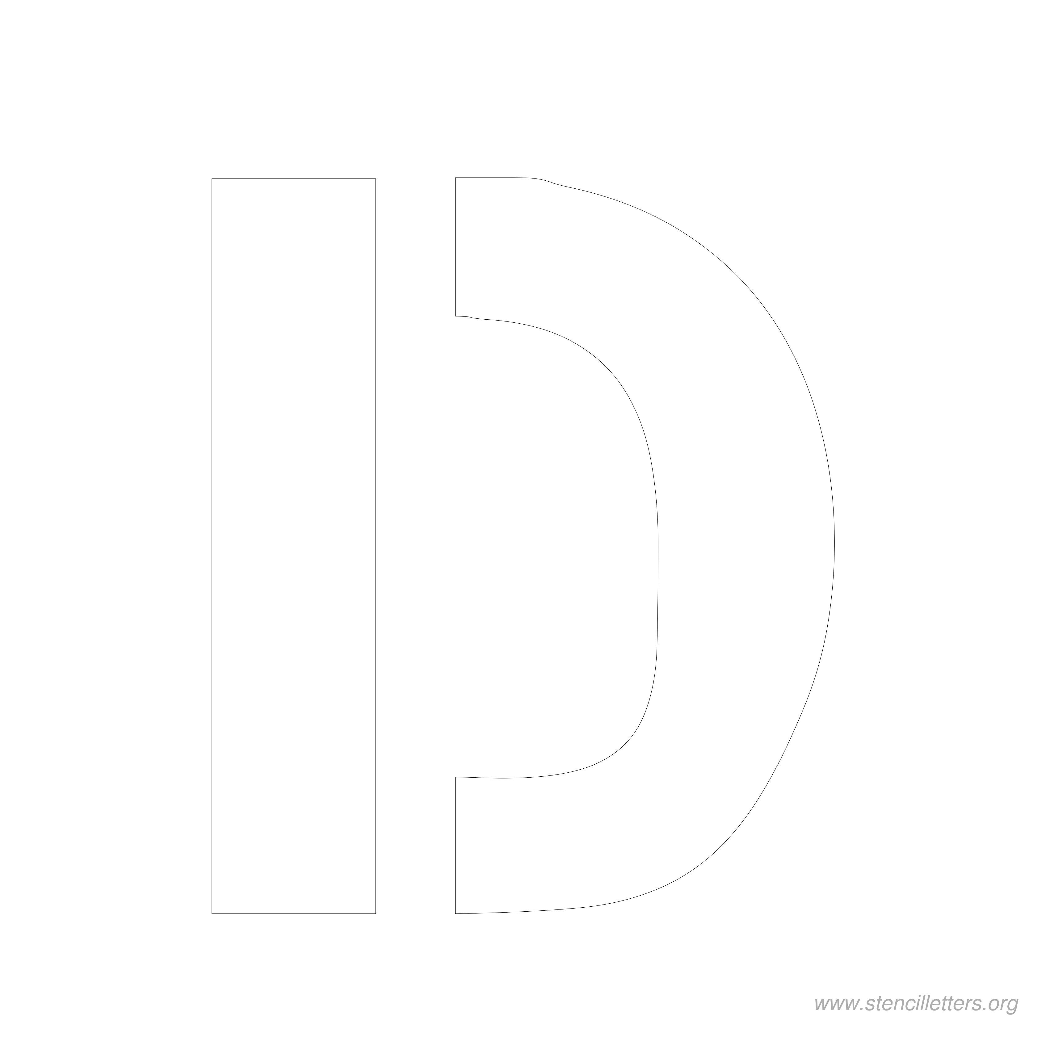 8 Inch Stencil Letter D Letter Stencils Free Printable Letter Stencils Letter Stencils Printables