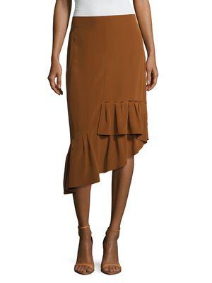 Heavy Silk Gypsy Asymmetrical Skirt