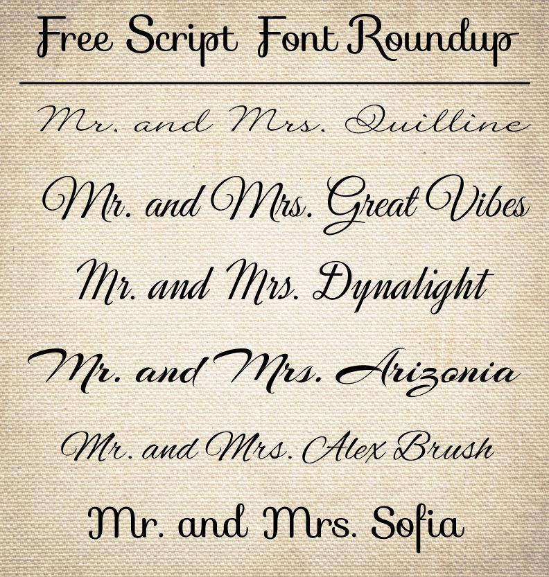 Best Fonts For Wedding Invitations: CT-Designs Calligraphy And Wedding Stationery: Free