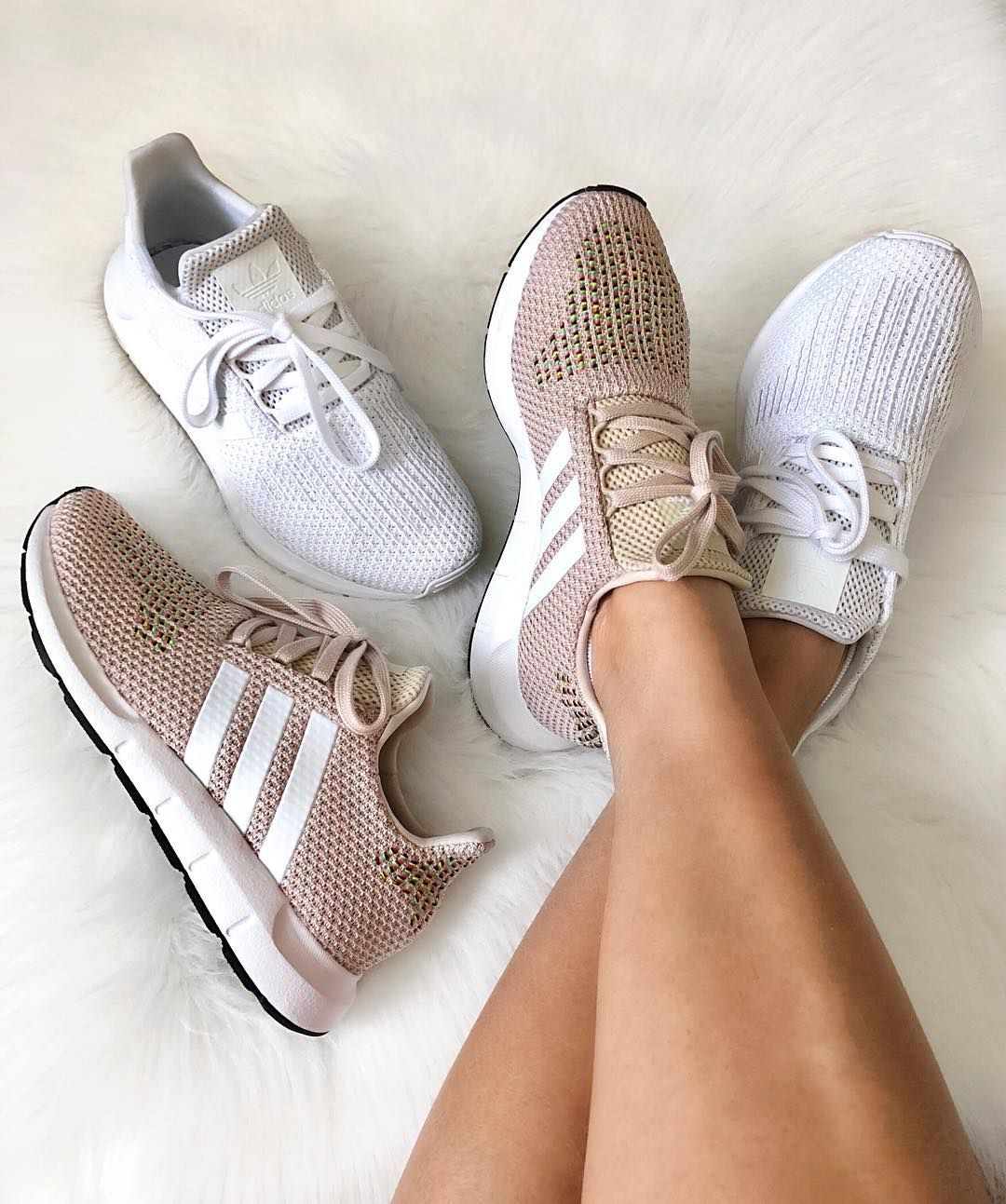 adidas Swift Run Shoes - Pink - Stylish