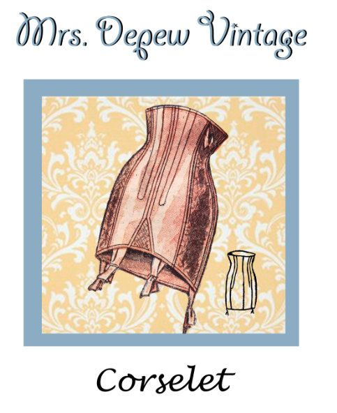 c98f1de67bc Vintage Sewing Pattern French Corselet Ladies 1950 s Multisize Waist ...