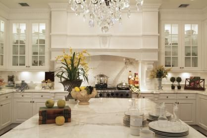 Stunning Downsview Kitchen, Statuary marble with ogee and bullnose edge on  Island. I will