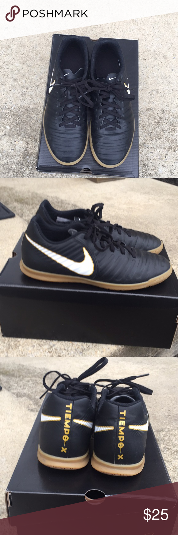 Nike Tiempo X Indoor Soccer Shoes Like New These Nike Tiempo X Rio Iv Shoes Have Only Been Worn Indoors For One Winter Soccer S Soccer Shoes Black Nikes Shoes