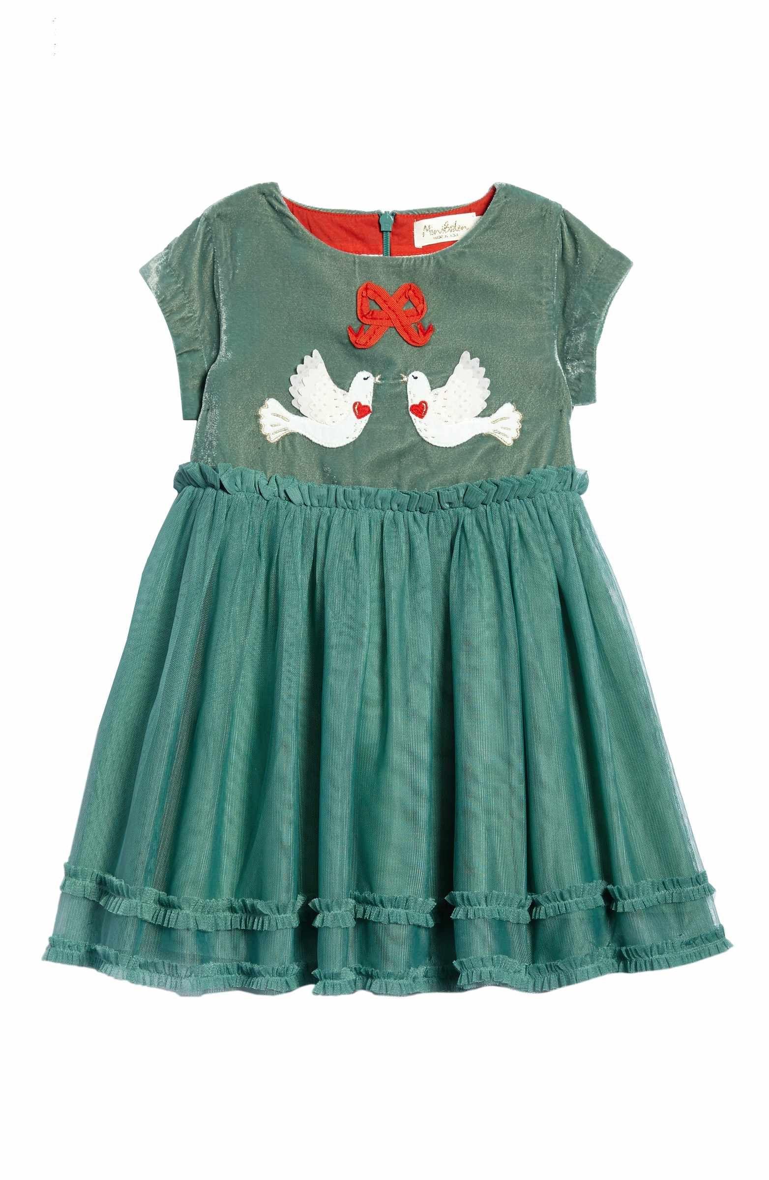 c1379bd20dfb Main Image - Mini Boden Appliqué Velvet Dress (Toddler Girls