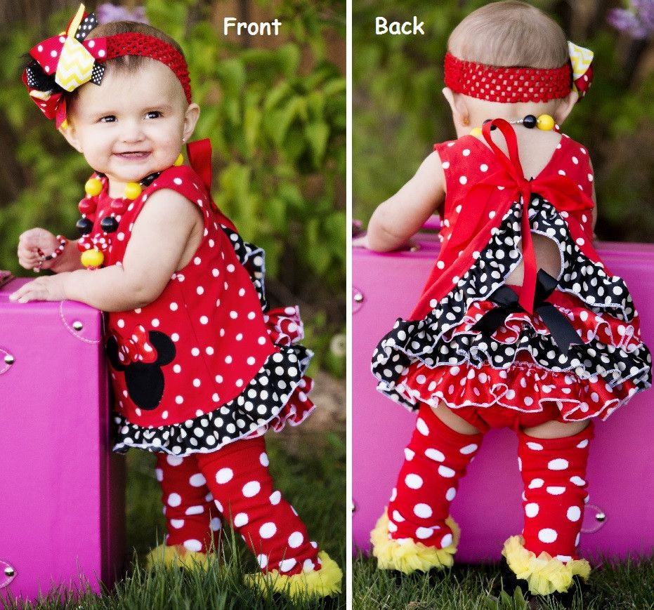 Red Minnie Mouse Swing Top Set | Sparkle in Pink. For Celia ...