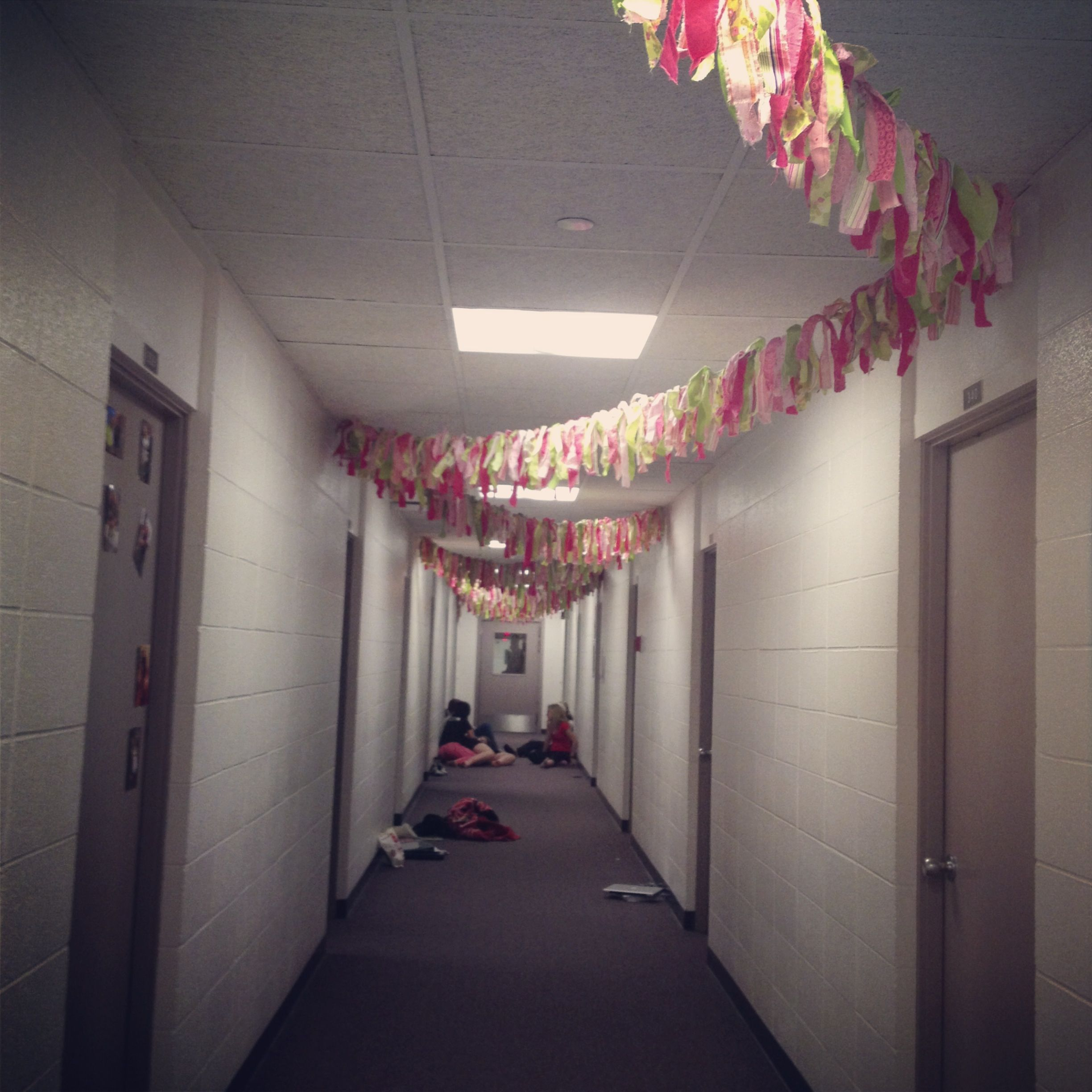 Dorm hall fabric decorations--our section rules! :) | D I Y ...