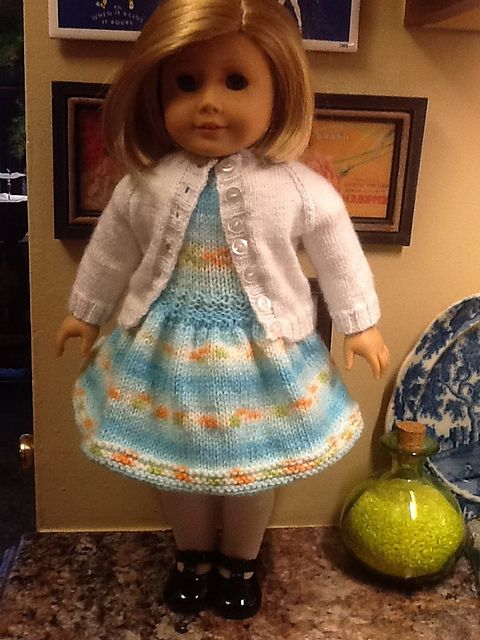 DWD #18 Simple Cardigan for American Girl Doll pattern by Cynthia ...