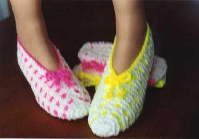 Tricoter pantoufles en phentex
