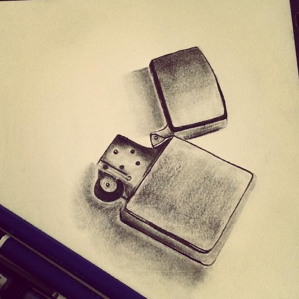 Cool Zippo Lighter Sketch By Instagram Fan Shakmayahi Art Zippo Art Zippo Lighter Wrist Tattoos