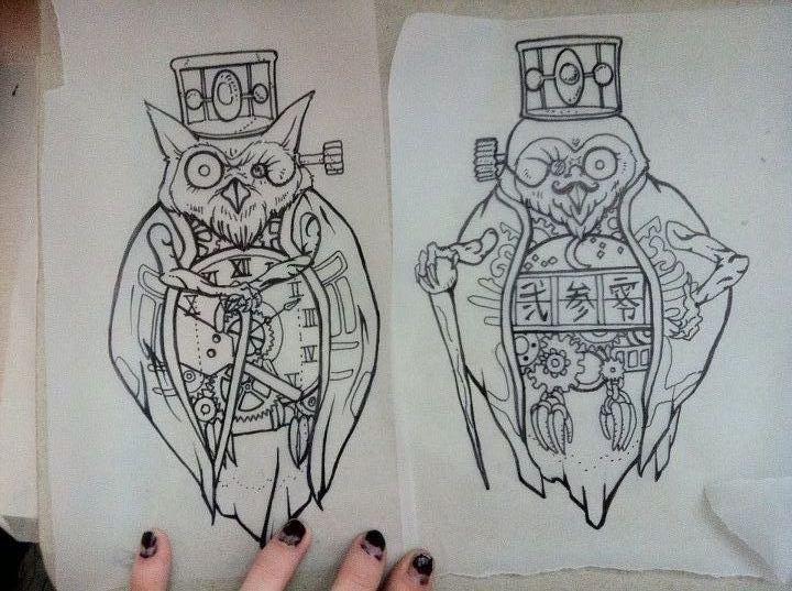 okami owls by lynntattoos deviantart com ahhhh i ve wanted these