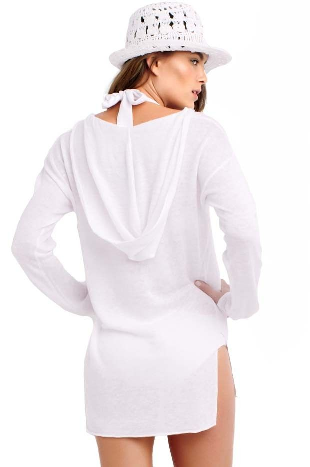 9d9e934279f Seafolly Sun lounger Hoodie - Sold 6 WHITE   NAVY