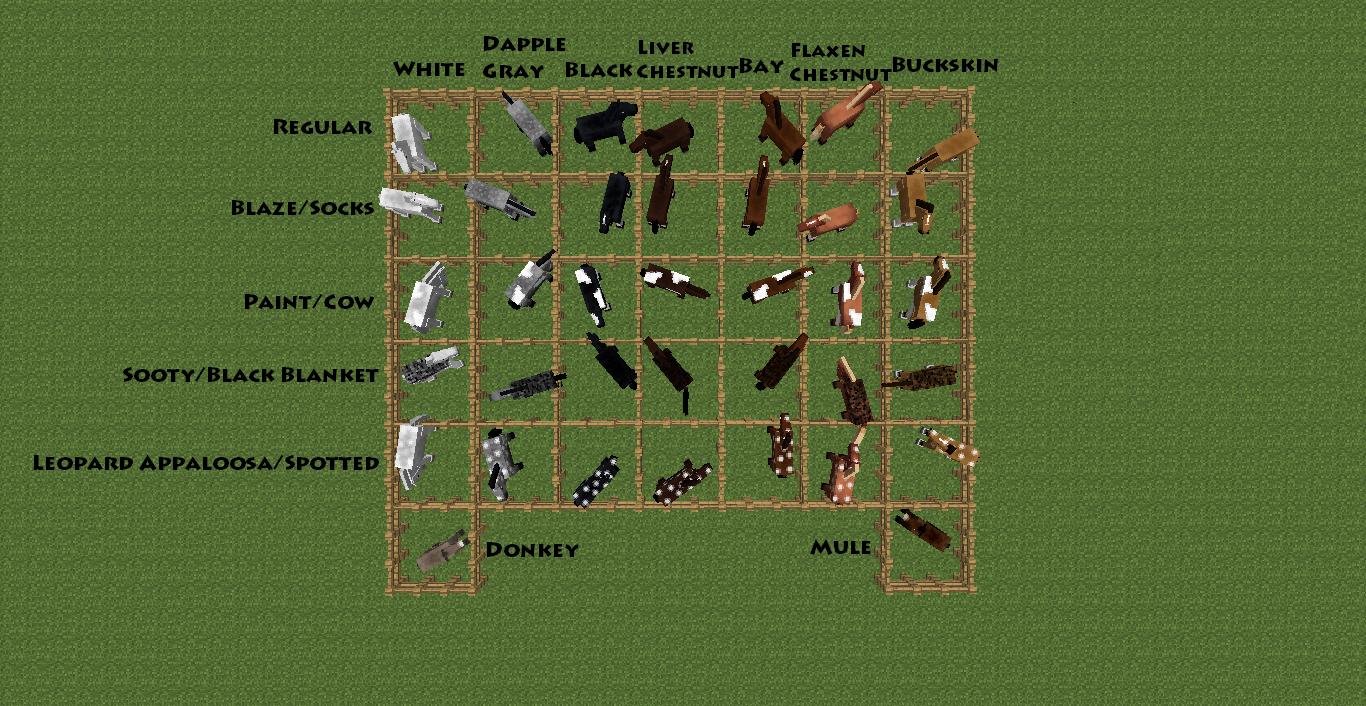 Afbeeldingsresultaat voor alle horses minecraft